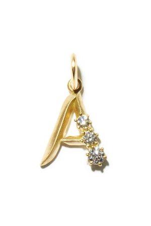 Jade Trau Charm lettres (A-M) en 18 carats et diamant
