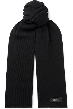 Givenchy Homme Écharpes & Foulards - Logo-Detailed Ribbed Wool and Cashmere-Blend Scarf