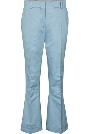 Marni Pantalon évasé en coton et lin