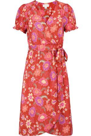 Velvet Robe portefeuille Meadow à fleurs