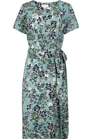 Velvet Robe portefeuille Rona à fleurs
