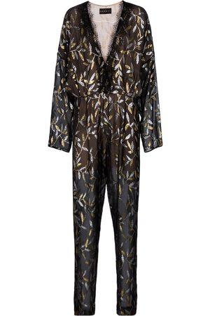 Dundas Combi-pantalon imprimée en soie mélangée