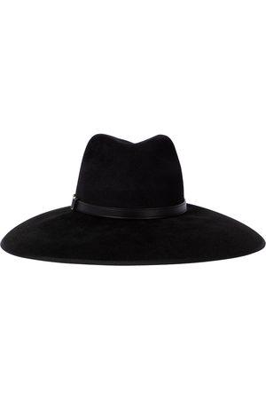 Gucci Chapeau Horsebit en feutre et cuir