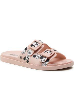 Melissa Mules / sandales de bain - Wide + Mickey & Friend 32999 Pink/White/Red 53868