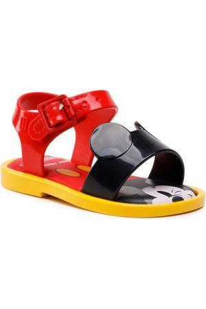 Melissa Fille Sandales - Sandales - Mini Mar Sandal + Mick 33234 Red/Black/Yellow 53218