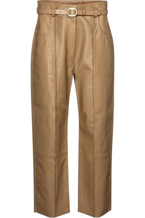 PETAR PETROV Pantalon droit paper bag en cuir