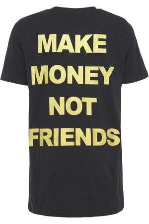 MAKE MONEY NOT FRIENDS T-shirt En Jersey De Coton Imprimé Logo