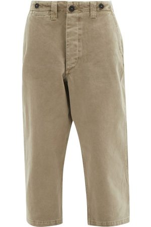 Raey Femme Chinos - Pantalon chino ample en sergé de coton