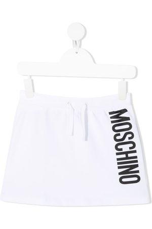 Moschino Minijupe à logo imprimé