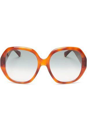 Gucci Femme Lunettes de soleil - Lunettes de soleil rondes oversize en acétate