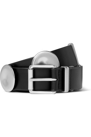 Bottega Veneta Homme Ceintures - 3cm Leather and Silver-Tone Belt
