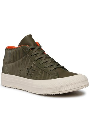 Converse Femme Baskets - Sneakers - One Star Counter Climate Mid 158836C Medium Olive/Black