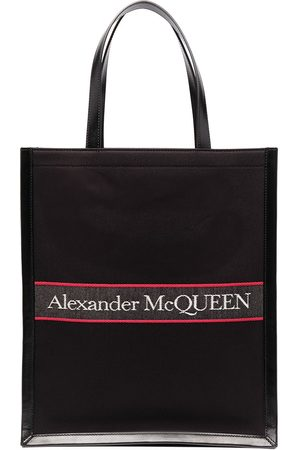 Alexander McQueen Sac cabas à logo brodé