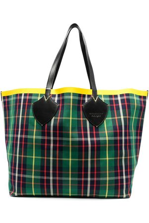 Burberry Contrast-tape checked tote