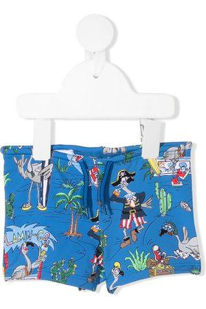 Stella McCartney Garçon Maillots de bain - Short de bain à imprimé graphique