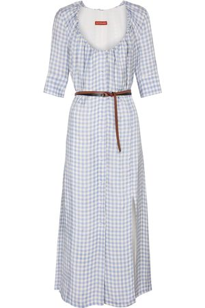 Altuzarra Femme Robes imprimées - Robe longue à carreaux