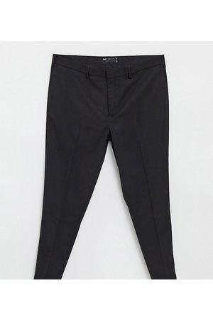 ASOS Plus - Wedding - Pantalon de costume slim en tissu micro-texturé