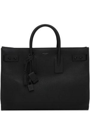 Saint Laurent Tote Bag En Cuir Avec Logo