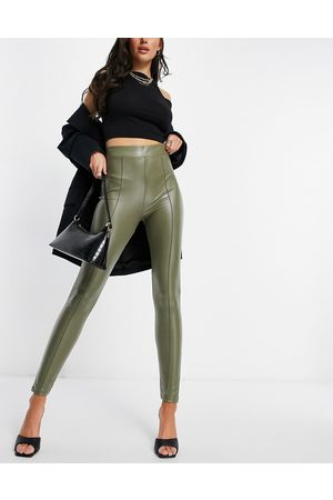 ASOS Femme Leggings & Treggings - Legging à nervures en imitation cuir