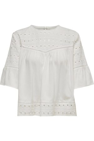 Only Broderie Anglaise Top À Manches Courtes Women White