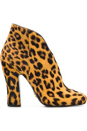 Prada Bottines à motif léopard