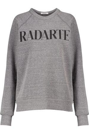 RODARTE Sweat-shirt en coton mélangé à logo