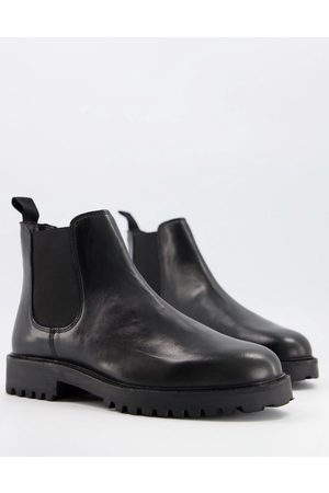 WALK LONDON Sean - Bottines Chelsea épaisses en cuir