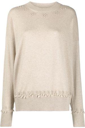Barrie Femme Pulls en maille - Cashmere embroidered jumper
