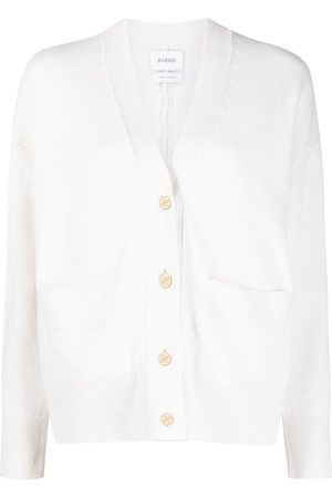 Barrie Femme Cardigans - Rib-detail cashmere cardigan