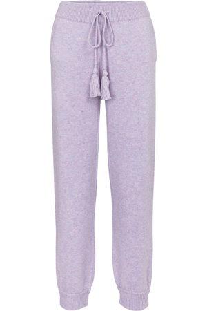 LOVESHACKFANCY Pantalon de survêtement Tristan en laine et cachemire