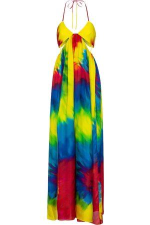 ALEXANDRE VAUTHIER Combi-pantalon en soie tie & dye
