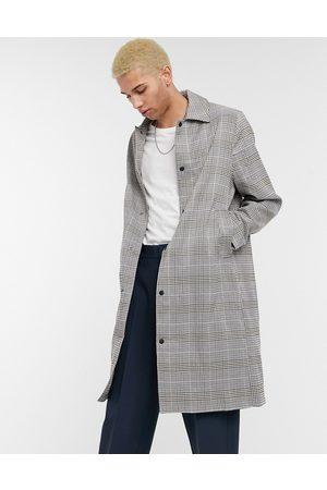 ASOS Trench-coat oversize à carreaux avec boutons-pression