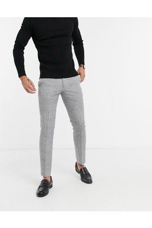 Moss Bros Moss London - Pantalon de costume slim à carreaux - et blanc