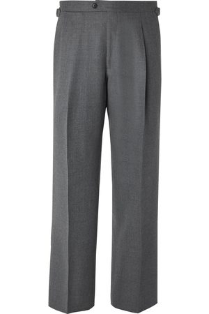 Saman Amel Homme Pantalons larges - Wide-Leg Wool and Cashmere-Blend Trousers