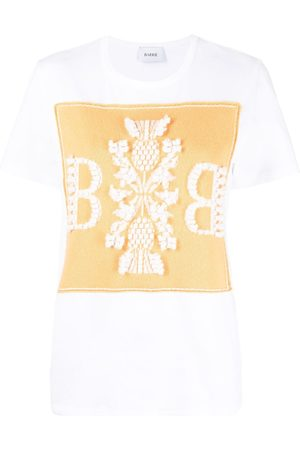 Barrie T-shirt à patch en cachemire