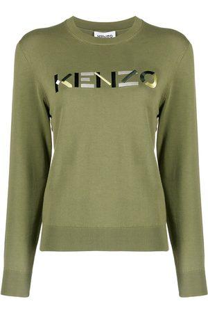 Kenzo Embroidered logo crew neck jumper