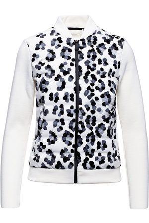 Aztech Dale of Aspen panelled leopard-print knitted jacket
