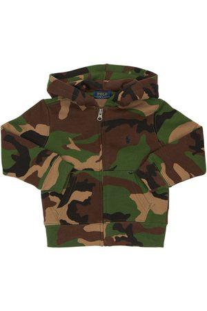 Ralph Lauren Sweat-shirt En Coton Camouflage À Capuche