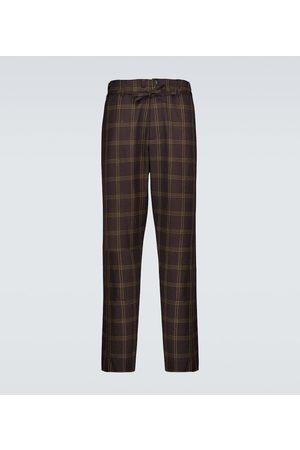 Marni Pantalon en laine mélangée à carreaux