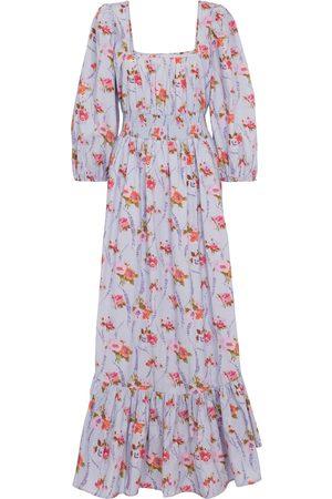 LOVESHACKFANCY Robe longue Minnia en coton à fleurs
