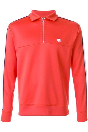 Ami Sweatshirt bicolore col polo mi zippé