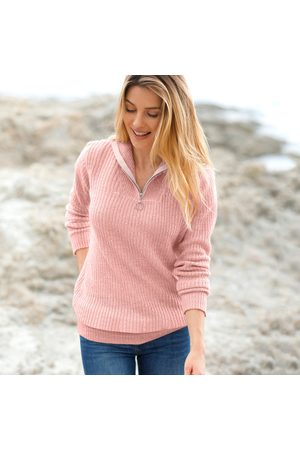 BLANCHEPORTE Pulls en maille - Pull col zippé maille anglaise