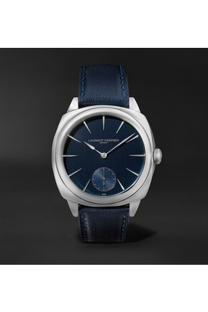 Laurent Ferrier Homme Montres - Square Automatic 41mm Stainless Steel and Leather Watch, Ref. No. LCF013.AC.CG2.1