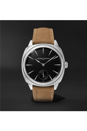 Laurent Ferrier Homme Montres - Square Automatic 41mm Stainless Steel and Alcantara Watch, Ref. No. LCF013.AC.N1G.1