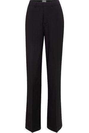 CO Pantalon ample à taille haute en laine