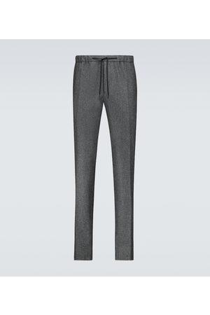 Fendi Pantalon de survêtement en flanelle de laine vierge