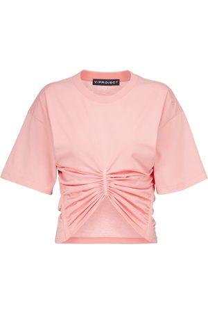 Y / PROJECT T-shirt raccourci en coton