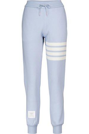 Thom Browne Pantalon de survêtement en cachemire et coton mélangés