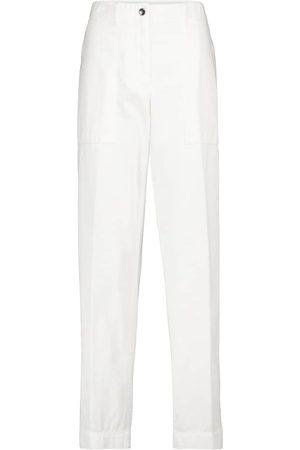 DRIES VAN NOTEN Pantalon droit à taille haute en coton