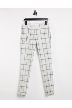Twisted Tailor Pantalon skinny avec chaîne à grands carreaux